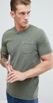 t shirt with pocket in khaki