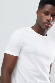 t shirt with stretch in white