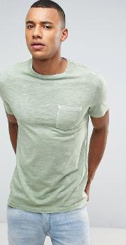 washed t shirt with pocket