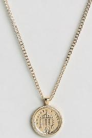 Old English Sovereign Medallion Necklace