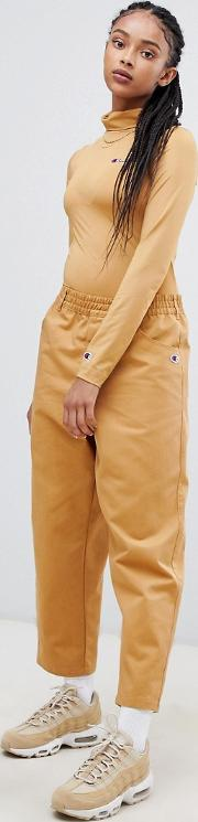 chinos with side logo