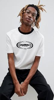 charm's t shirt in white with logo