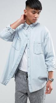 conduct denim shirt pale blue