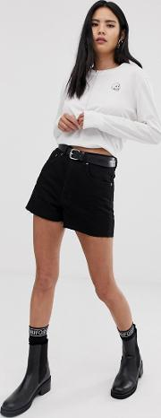 Donna Denim Mom Shorts