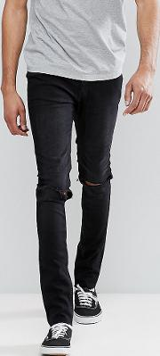 Tall Tight Skinny Jeans With Knee Rip