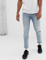 Tight Jeans With Ripped Knees