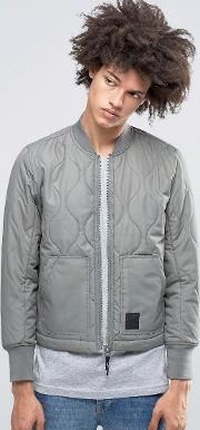 trouble quilt bomber grey