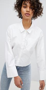 white shirt with back zip