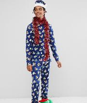 Christmas Pyjamas Set With Santa Hat Rubber Duck