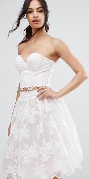 Chi  London Lace Corset Bustier  Ord