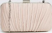 Chi  London Ruched Clutch Bag In Satin