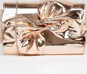 Chi  London Tie Up Bow Clutch Bag