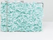 floral applique clutch bag