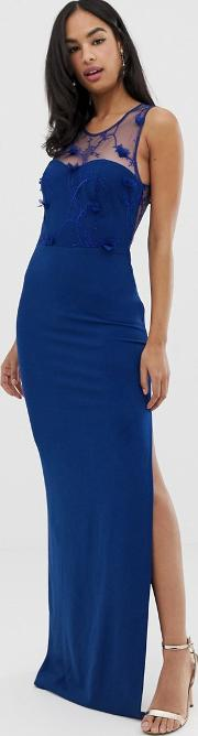 Strappy Detail Maxi Dress With Thigh Split