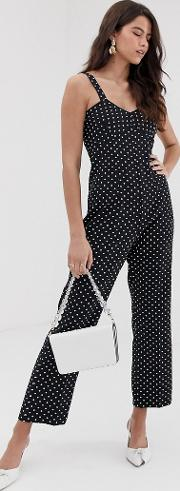 Closet Fitted Strap Jumpsuit