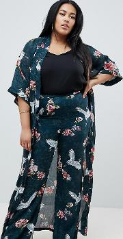 wide leg printed trousers