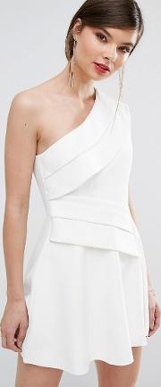 C/meo Collective Don't Stop One Shoulder Mini Dress