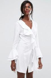 C/meo Collective Still Standing Ruffle Wrap Dress