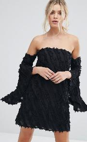 recollection flared sleeve dress