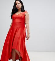 Belle Draped Hem Maxi Dress