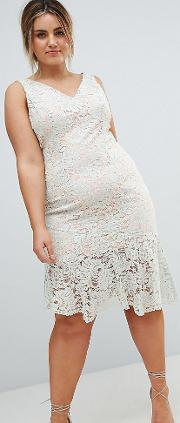 Coast Curve Lichina Mint Lace Midi Dress