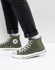 chuck taylor all star '70 hi plimsolls in green 159771c
