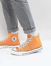 chuck taylor all star '70 hi plimsolls in orange 159622c