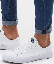 Chuck Taylor All Star Ii Plimsolls In White 150154c