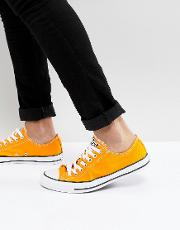 chuck taylor all star ox plimsolls in orange 159676c