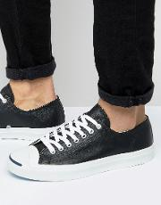 Jack Purcell Ox Leather Plimsolls In Black 1s962