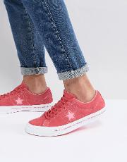 one star ox plimsolls in pink 159815c