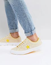 one star ox plimsolls in yellow 159814c