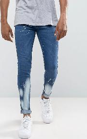 super skinny jeans with bleach