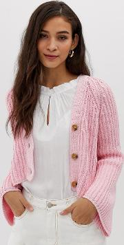 Chunky Knit Crop Cardigan
