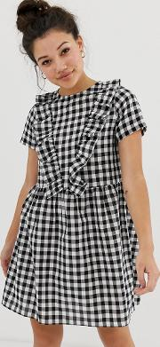 Smock Dress With Ruffles