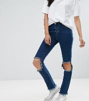 Skinny Jean With Busted Knee