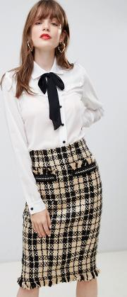 Blouse With Bow Detail