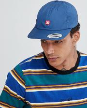 6 panel strapback with small logo