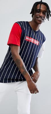 t shirt in stripe with contrasting sleeves