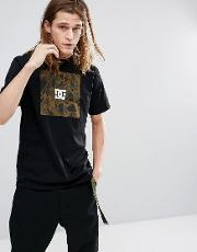 t shirt with camo box logo