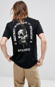 T Shirt With Skull Back Print