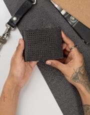 leather perforated wallet