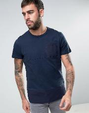 Panel  Shirt With Chest Pocket