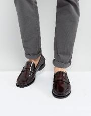penny loafers in bordo leather