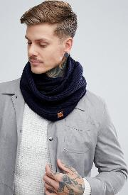 ribbed snood in navy
