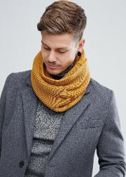 ribbed snood in yellow