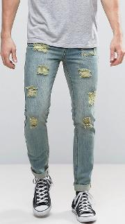 skinny fit jeans with destroy