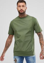 t shirt with front panel