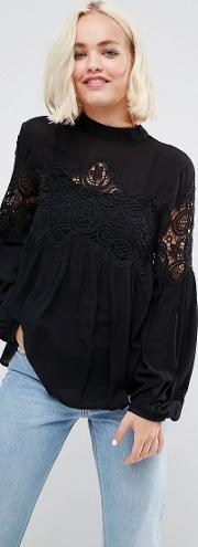 delane lace blouse
