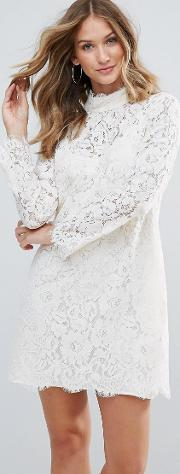 Dorothy Lace High Neck Dress